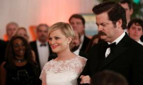 PARKS AND RECREATION: Amy Poehler & Adam Scott on Leslie & Ben's Big Day